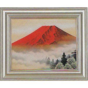 額 絵画 日本画 赤富士 高橋 章 「F-6」 掛軸 掛け軸|a-kakejikujp