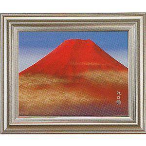 額 絵画 赤富士 滝 雅洋「P-10」 掛軸 掛け軸|a-kakejikujp