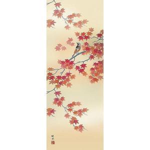 掛け軸 四季花鳥:四季揃 田村竹世 尺五 掛軸 全国送料無料|a-kakejikujp|04