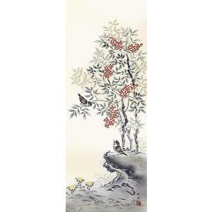 掛け軸 四季花鳥:四季揃 田村竹世 尺五 掛軸 全国送料無料|a-kakejikujp|05