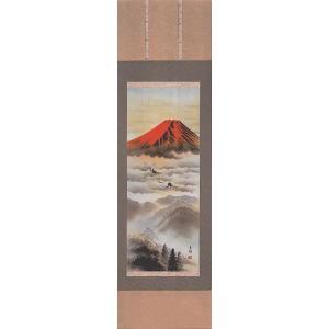 掛軸 赤富士 東村 掛け軸 尺五立|a-kakejikujp