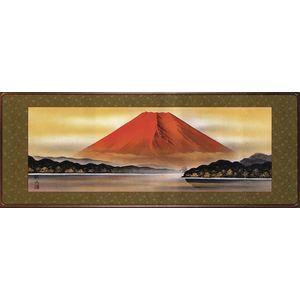 額 絵画 赤富士 和額 浮田秋水 掛軸 絵画|a-kakejikujp