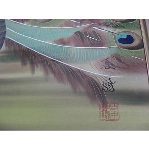 小島夏鵬  美術名典掲載作家  孔雀 20号 日本画 絵画|a-kakejikujp|04