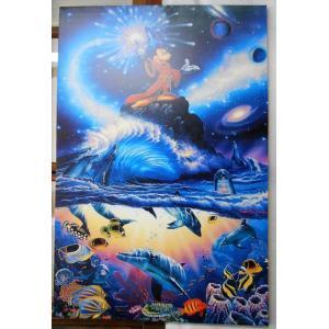クリスチャン・リース・ラッセン ソーサラーオブザシーズ キャンバスに油彩系の複製 全国送料無料