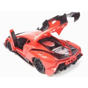 送料無料(通常地域)!XLFsports car◇ラジコンでドアが開く!ランボルギーニヴェネーノ(ベネーノ)型1/18ラジコンカー/レッド|a-kind|03