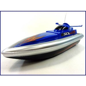送料無料(通常地域)!HT◇安全ストップ機能付スピードボート型ラジコン船/ブルー 27MhzRC