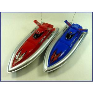 送料無料(通常地域)!HT◇安全ストップ機能付スピードボート型ラジコン船/2台組