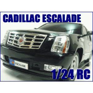 送料無料(通常地域)!GK◇キャデラックエスカレード◇2.4Ghzライセンス車1/24ラジコンカー/ブラック