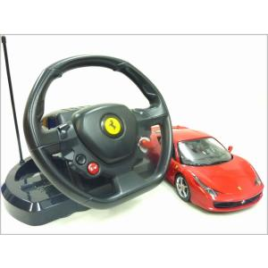 RASTAR◇フェラーリ458イタリア正規認証車RCハンドル型ステアリングコントローラー1/14ラジコンカー|a-kind