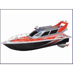 送料無料(通常地域)!HT◇クルーザー型ポリスボート充電式ラジコン船フルセット/レッド