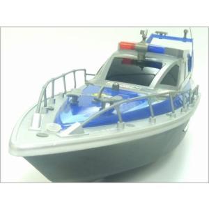 送料無料(通常地域)!HT◇クルーザー型ポリスボート充電式ラジコン船◇フルセット/ブルー