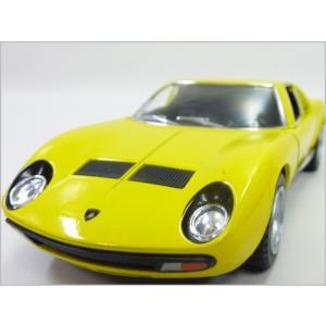 Kinsmart/キンスマート◇1971ランボルギーニミウラP400SV◇1/34ダイキャストモデルミニカー(プルバックカー)イエロー|a-kind