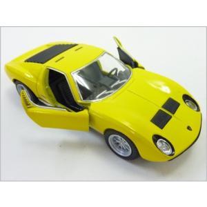 Kinsmart/キンスマート◇1971ランボルギーニミウラP400SV◇1/34ダイキャストモデルミニカー(プルバックカー)イエロー|a-kind|02