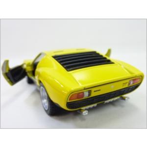 Kinsmart/キンスマート◇1971ランボルギーニミウラP400SV◇1/34ダイキャストモデルミニカー(プルバックカー)イエロー|a-kind|03