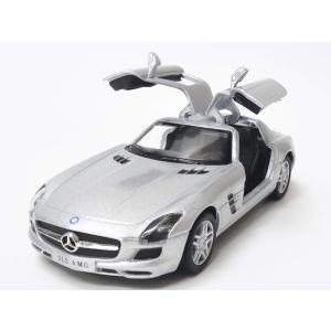 ドイツの高級車、メルセデスベンツのAMG仕様のSLSを再現しました!お子様には喜ばれる、後ろに引っ張...