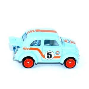 ホットウィール カーカルチャー/HotWheels Car Culture ◇フィアット500Dガルフレーシング/Gulf Racing Fiat500D 60's MODIFICADO a-kind 02