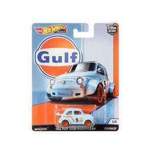 ホットウィール カーカルチャー/HotWheels Car Culture ◇フィアット500Dガルフレーシング/Gulf Racing Fiat500D 60's MODIFICADO a-kind 04