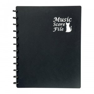 ミュージックスコアファイル 楽譜ファイル A4サイズ 書き込み リングファイル 会議資料の商品画像 ナビ
