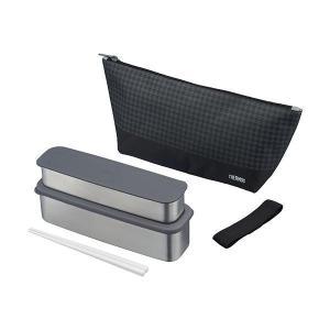 色移り、におい移りしにくいステンレス製のランチボックス。バッグにも入れやすいスリムサイズで、シンプル...
