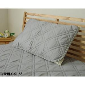 枕パッド 『モダール 枕パッド』 グレー 約43×63cm 1563899の商品画像|ナビ
