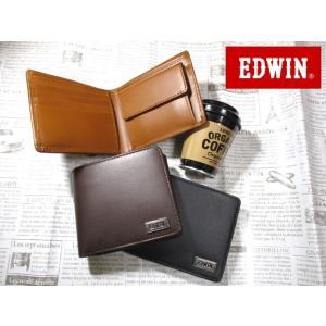 486d6e20faaa エドウィン EDWIN ブランド 財布 二つ折り イタリアンレザー しっかりしたレザーにおしゃれでシンプルなメタルロゴ