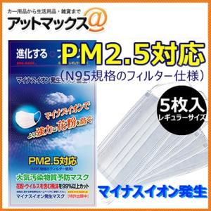 ERA MASK PM2.5対応 5枚入り マスク 大気汚染 花粉 対策 マイナスイオン発生マスク{ERAMASK-1[9980]}|a-max