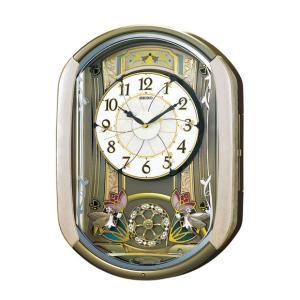 からくり時計 掛け時計 SEIKO セイコー電波時計 電波 掛時計 多機能時計  RE567G