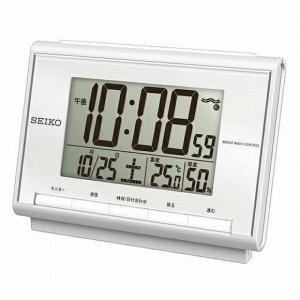 電波時計 温湿度計付 SEIKO セイコー 置時...の商品画像