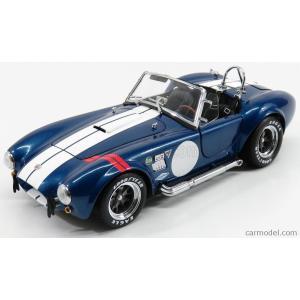 フォード シェルビー コブラ ミニカー 1/18 KYOSHO - FORD USA - SHELBY COBRA 427 S/C SPIDER 1962 BLUE MET WHITE|a-mondo2