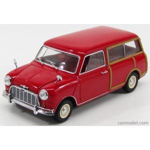 ミニクーパー モーリス ミニ マイナー ミニカー 1/18 京商 KYOSHO - MORRIS - MINI MINOR TRAVELLER 1960 RED WOOD|a-mondo2