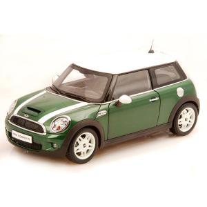 ミニクーパー S R56 ミニカー 1/18 京商 KYOSHO Mini Cooper S R56 Green w/ White Stripes|a-mondo2
