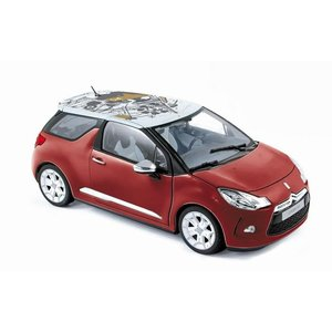 シトロエン DS3 ミニカー 1/18 ノレブ NOREV - CITROEN - DS3 2010 RED WHITE|a-mondo2
