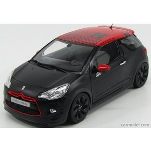 シトロエン DS3 ミニカー 1/18 ノレブ NOREV - CITROEN - DS3 RACING SEBASTIAN LOEB 2013 MATT BLACK RED|a-mondo2