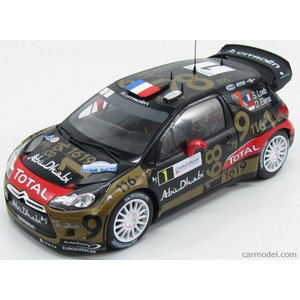 シトロエン DS3 ミニカー 1/18 ノレブ NOREV - CITROEN - DS3 WRC N 1 ACCIDENT RALLY FRANCE 2013 S.LOEB - D.ELENA BLACK GOLD RED|a-mondo2