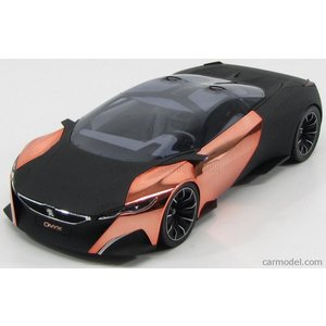 プジョー ONYX コンセプトカー ミニカー 1/18 ノレブ NOREV - PEUGEOT - ONYX CONCEPT CAR SALON DE PARIS 2012 MATT BLACK COPPER|a-mondo2
