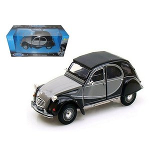 シトロエン 2CV 6 ミニカー 1/24 ウェリー WELLY - CITROEN - 2CV 6 CHARLESTON GREY|a-mondo2