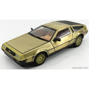 デロリアン DMC-12 ミニカー 1/18 SUN-STAR - DE LOREAN - DMC-12 1981 - GOLD EDITION MATT GOLD 02702|a-mondo2