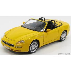 マセラティ 3200 スパイダー GT ミニカー 1/18 MAISTO - MASERATI - 3200 SPIDER GT CAMBIOCORSA 2001 YELLOW|a-mondo2