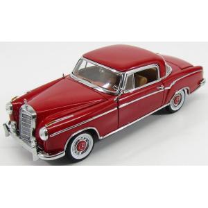 メルセデス ベンツ 220SE ミニカー 1/18 SUN-STAR - MERCEDES BENZ - 220SE CABRIOLET CLOSED HARD-TOP 1958 RED 03563|a-mondo2