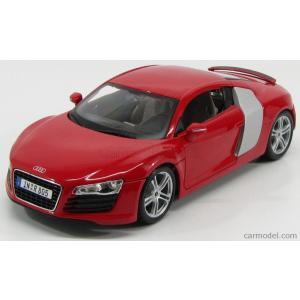 アウディ R8 ミニカー 1/18 MAISTO - AUDI - R8 4.2 FSI V8 2007 RED|a-mondo2