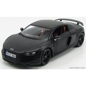 アウディ R8 ミニカー 1/18 MAISTO - AUDI - R8 GT 5.2 V10 FSI 2010 MATT BLACK|a-mondo2