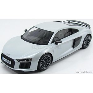 アウディ R8 ミニカー 1/12 プレミアム クラシックス PREMIUM CLASSIXXS - AUDI - R8 V10 QUATTRO COUPE 2015 VERY LIGHT GREY MET|a-mondo2