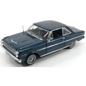 フォード ファルコン ミニカー 1/18 SUN-STAR - FORD USA - FALCON HARD-TOP 1963 OXFORD BLUE MET 04543|a-mondo2