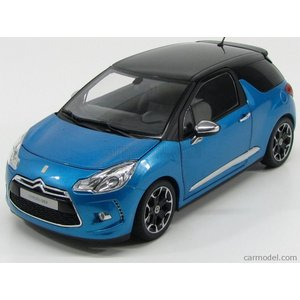 シトロエン DS3 ミニカー 1/18 ノレブ NOREV - CITROEN - DS3 2013 BLUE BLACK|a-mondo2