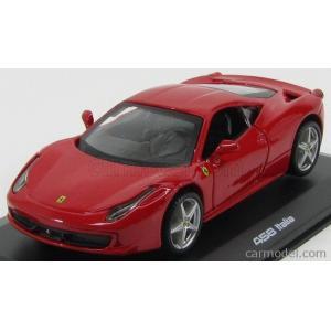 フェラーリ 458 ミニカー 1/32 ブラーゴ Ferrari 458 Italia Red Diecast Model Car by Bburago|a-mondo2