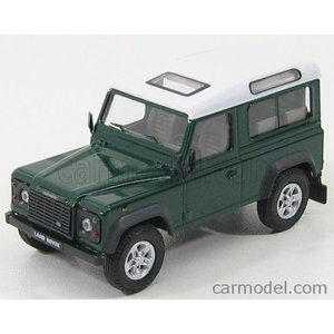 ランドローバー ランドディフェンダー ミニカー 1/43 HONGWELL - LAND ROVER - LAND DEFENDER 90 1983 DARK GREEN WHITE|a-mondo2