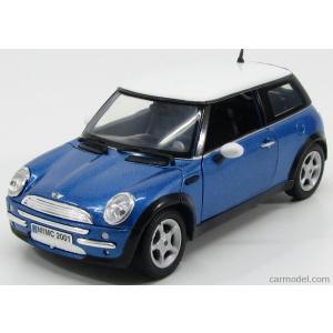 ミニクーパー ミニカー 1/18 モーターマックス MOTOR-MAX - MINI - COOPER 2002 BLUE MET WHITE|a-mondo2