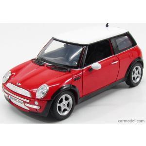 ミニクーパー ミニカー 1/18 MOTOR-MAX - MINI - COOPER 2002 RED WHITE|a-mondo2