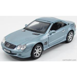 メルセデス ベンツ Sクラス ミニカー 1/18 MOTOR-MAX - MERCEDES BENZ - S-CLASS SL500 CABRIOLET 2001 LIGHT BLUE MET|a-mondo2