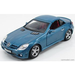 メルセデス ベンツ SLK ミニカー 1/18 MOTOR-MAX - MERCEDES BENZ - SLK-CLASS 55 AMG CABRIOLET 2006 BLUE MET|a-mondo2